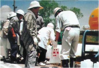 多くの自治体で採用される非常用給水袋