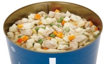 サバイバルフーズ・チキンシチューの調理イメージ