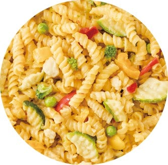 25年非常食サバイバルフーズの野菜のクリームパスタ(パスタプリマヴェラ)
