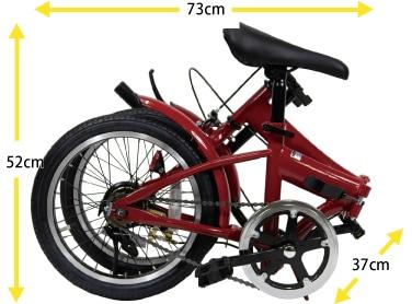 備蓄する自転車(折りたたみ時)