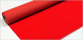 赤い背景布