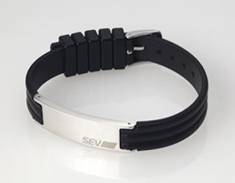 SEVラインブレスレット2 ブラック