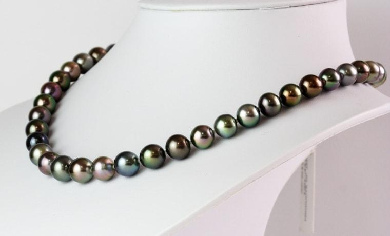 マルチカラー真珠ネックレス
