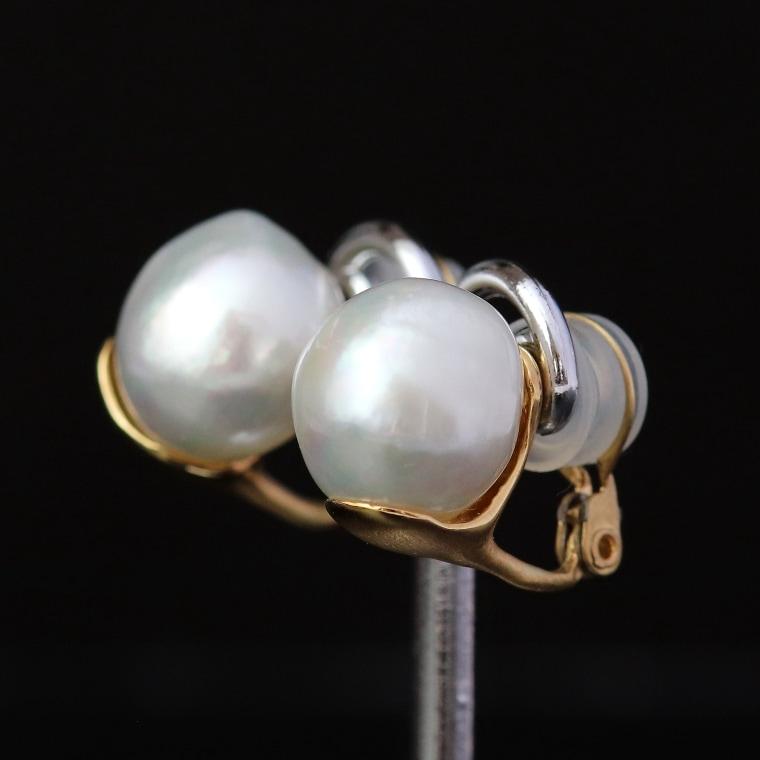 真珠イヤリング
