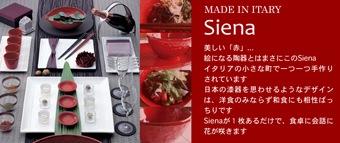 イタリアからの赤い皿・シエナ