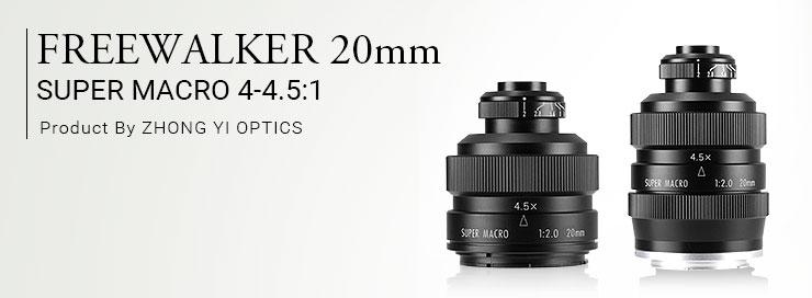 FREEWALKER(フリーウォーカー)20mm F2.0 SUPER MACRO 4-4.5:1