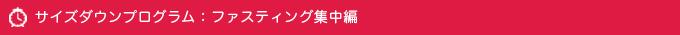 サイズダウンプログラム:ファスティング集中編