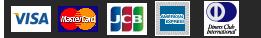 VISA、MasterCard、JCB、American Express、AMEX DinersClub
