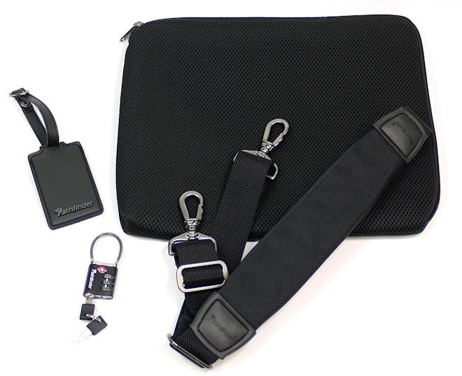 付属品/ショルダーストラップ、IDタグ、PCケース、TSAロック