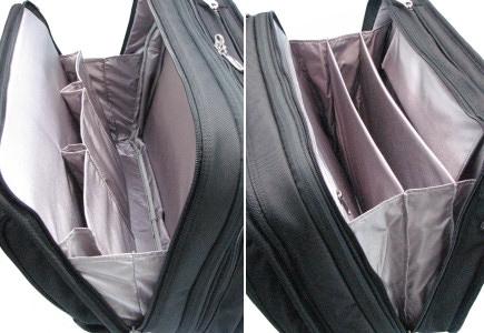 パスファインダー ビジネスバッグ 内装画像 2室タイプ