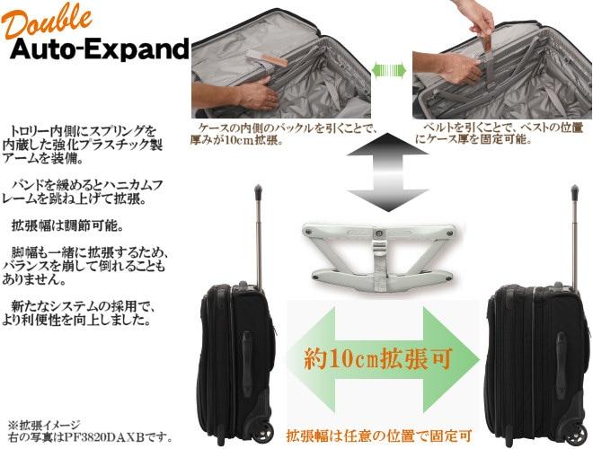 パスファインダー スーツケース 拡張機能