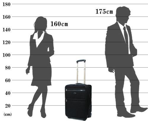 パスファインダー スーツケース PF3819DAX サイズ参考イメージ