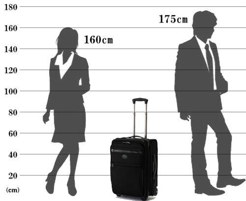 パスファインダー スーツケース PF3820DAX サイズ参考イメージ