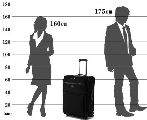 パスファインダー スーツケース PF3824DAX サイズ参考イメージ