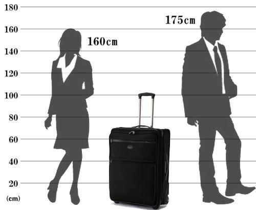 パスファインダー スーツケース PF3826DAX サイズ参考イメージ