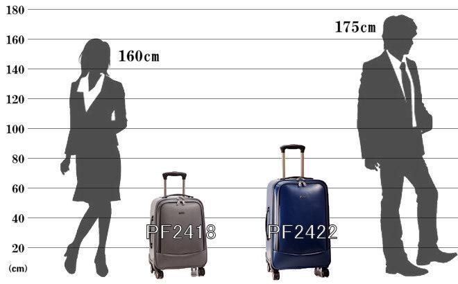 パスファインダー スーツケース TPU素材 サイズ参考イメージ