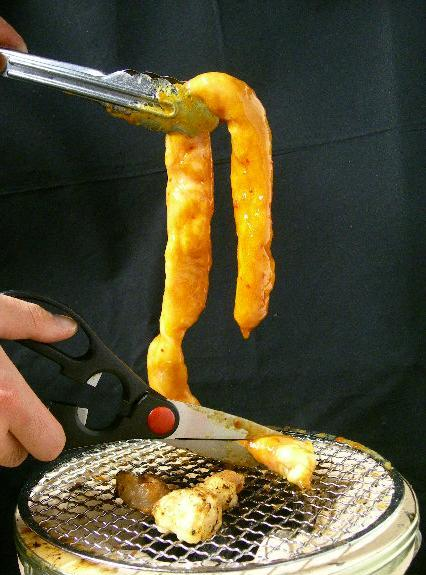 国産牛の丸腸1本焼き