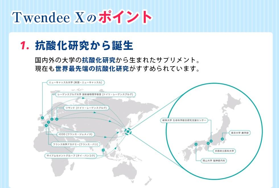 Twendee X のポイント。抗酸化研究から誕生