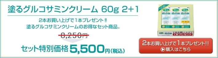 塗るグルコサミンクリーム 60g 2+1