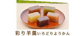 市田柿の和菓子は、彩り羊羹