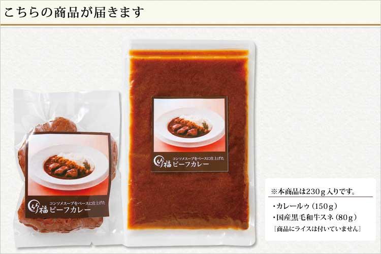 肉の宝石より生まれたコンソメスープをベースに仕上げた ビーフカレー(240g)