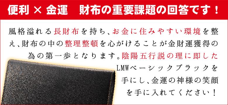 LMW ベーシックブラックの説明〜