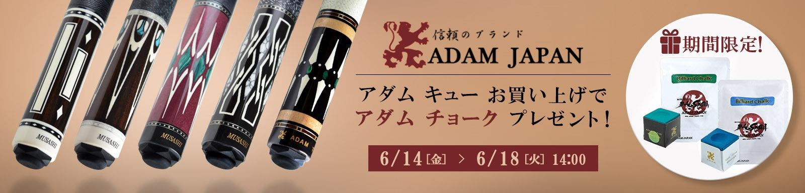 ADAM CUE チョークプレゼントキャンペーン