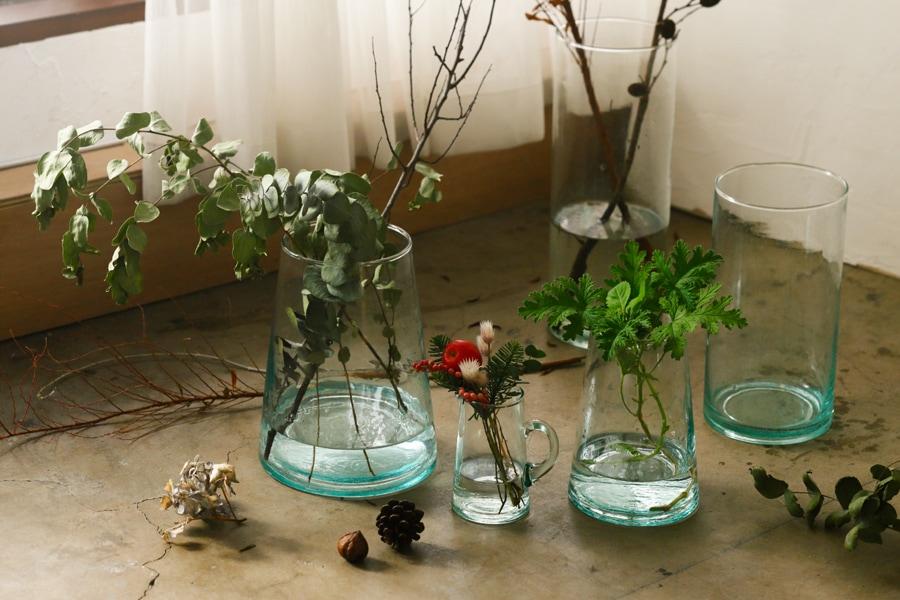 モロッコガラス フラワーベース