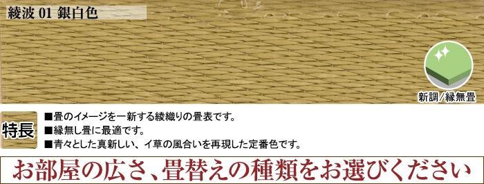 綾波01銀白色 表替え4.5帖