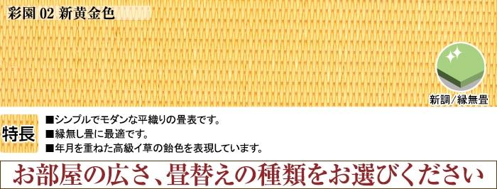 彩園02新黄金色 表替え4.5帖