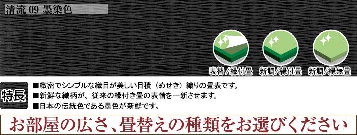 清流09墨染色 表替え4.5帖