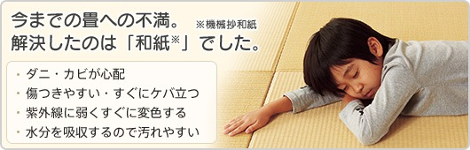 今までの畳への不満。解決したのは「和紙」でした。