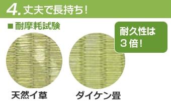 耐久性はイ草畳の3倍!