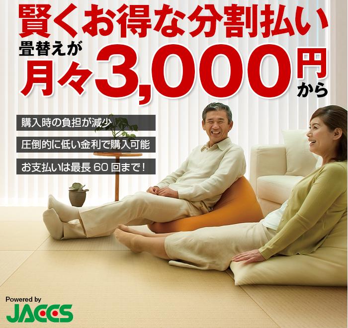 賢くお得な分割払いが月々3000円