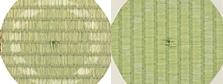 イ草畳、機械すき和紙畳、耐久性比較