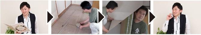 畳の新調入替え・交換作業の流れ