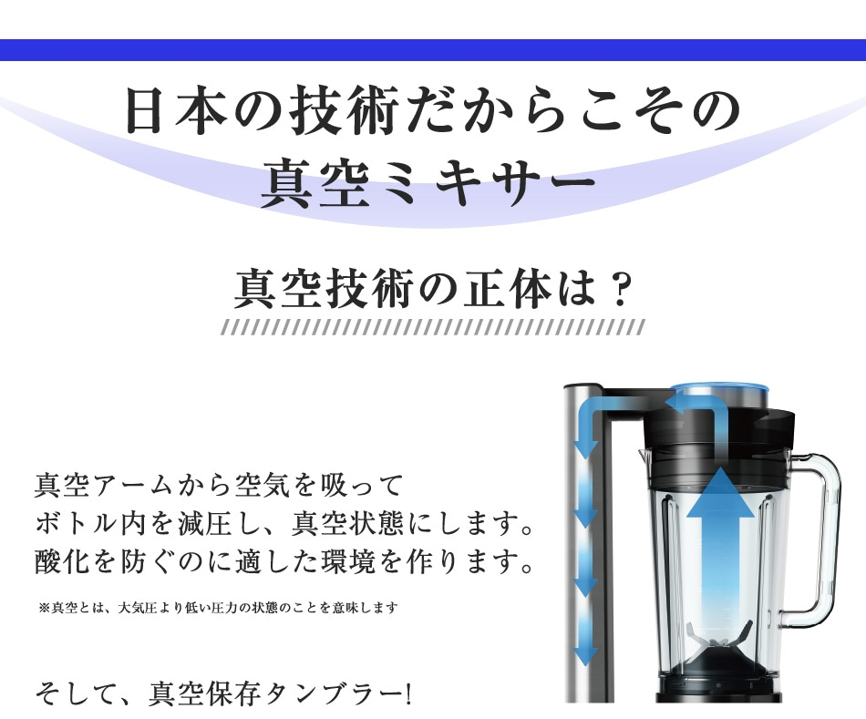 日本の技術だからこその真空ミキサー
