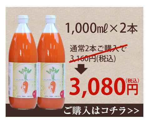 1,000ml×2本 3,080円(税込・送料別)