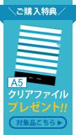 【ご購入特典】クリアファイルプレゼント
