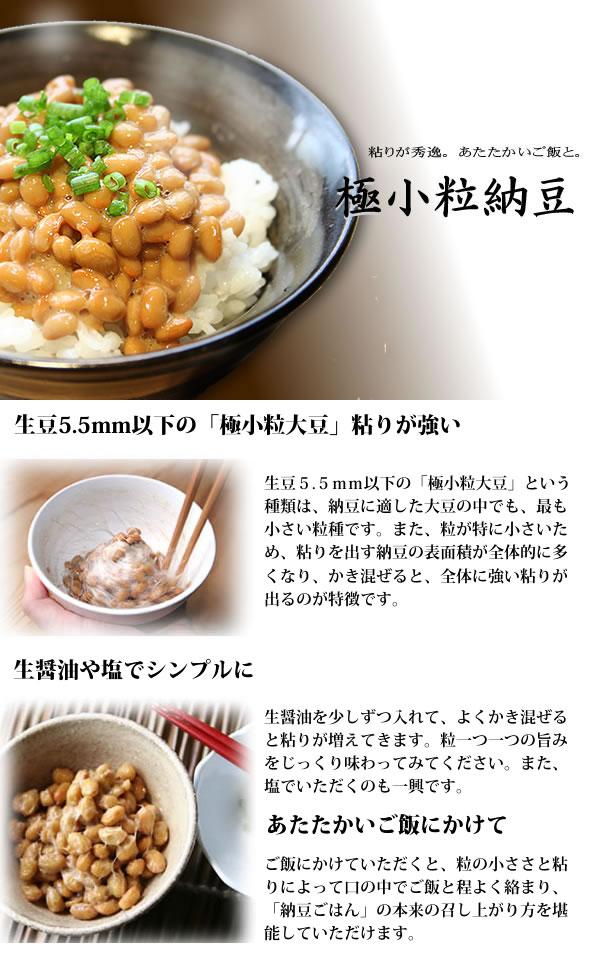 極小粒納豆の特徴について