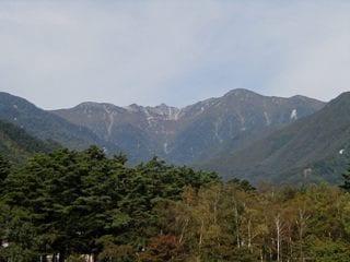 マルスウイスキー信州工場より駒ケ岳を望む
