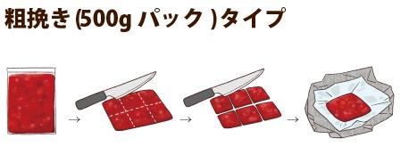 粗挽き(500gパック)タイプ