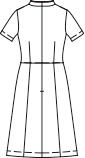 CH-CL-0181 バックスタイルイラスト