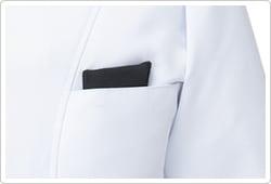 PHSが落ちにくい生地を使用した内ポケットが付いています。