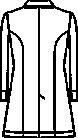 121-10 レディス診察衣七分袖バックスタイル