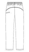 SCS701 アディダス男女兼用パンツバックスタイル