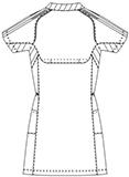 SMS001 アディダスレディスチュニック丈スクラブ半袖バックスタイル