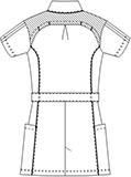 SMS002 アディダスレディスジャケット半袖バックスタイル