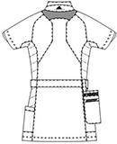 SMS007 アディダスレディスジャケット半袖バックスタイル