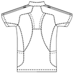 SMS601 アディダスメンズジャケット半袖バックスタイル